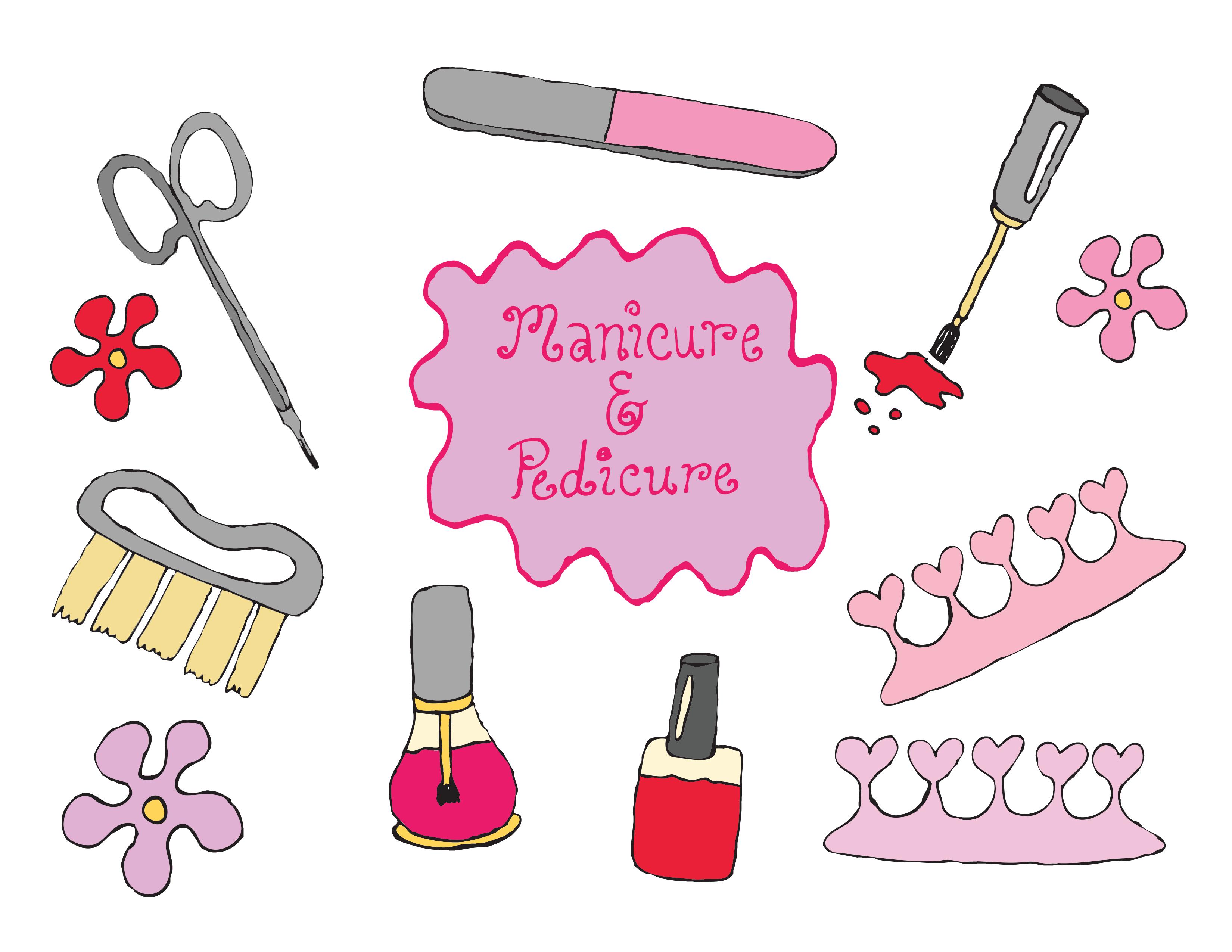 Nails clipart manicured hand. Manicure pedicure nail polish