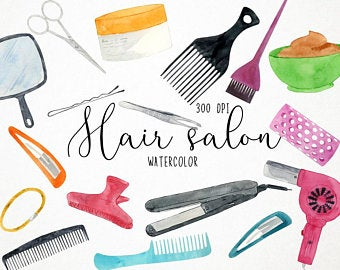 Salon etsy . Cosmetology clipart hair appointment