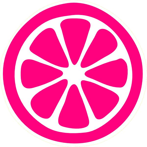 Pink Lemonade Slice Clip Art at Clker