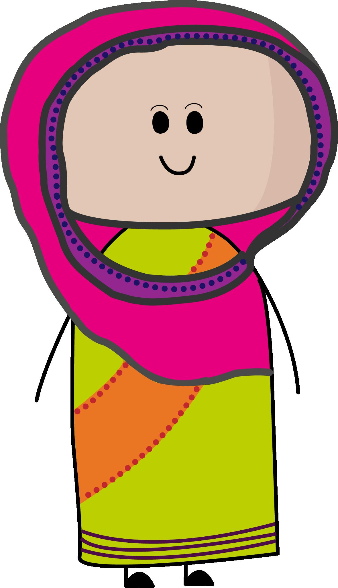 Indians clipart cute. Hindu indian character vector