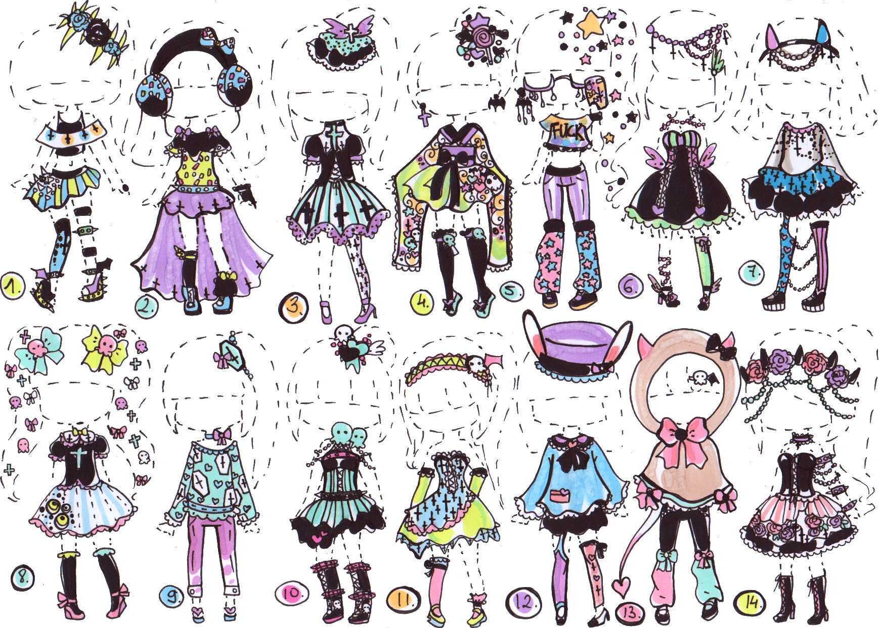 Win clipart gothic. Closed pastel goth collection