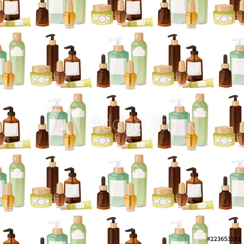 Bottles of cosmetic makeup. Cosmetology clipart lotion
