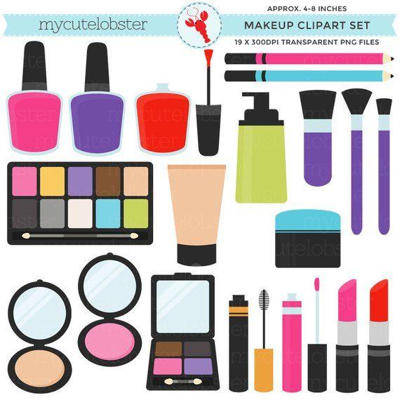 Set clip art of. Cosmetology clipart makeup item