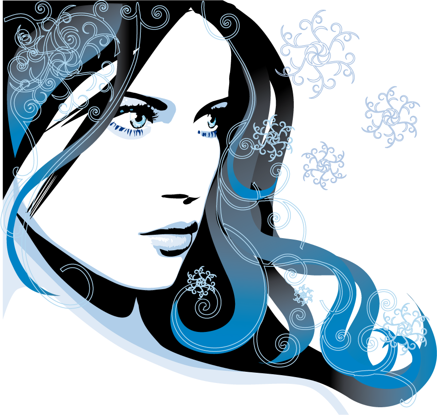 Cosmetology clipart neat hair. Tube vector woman style