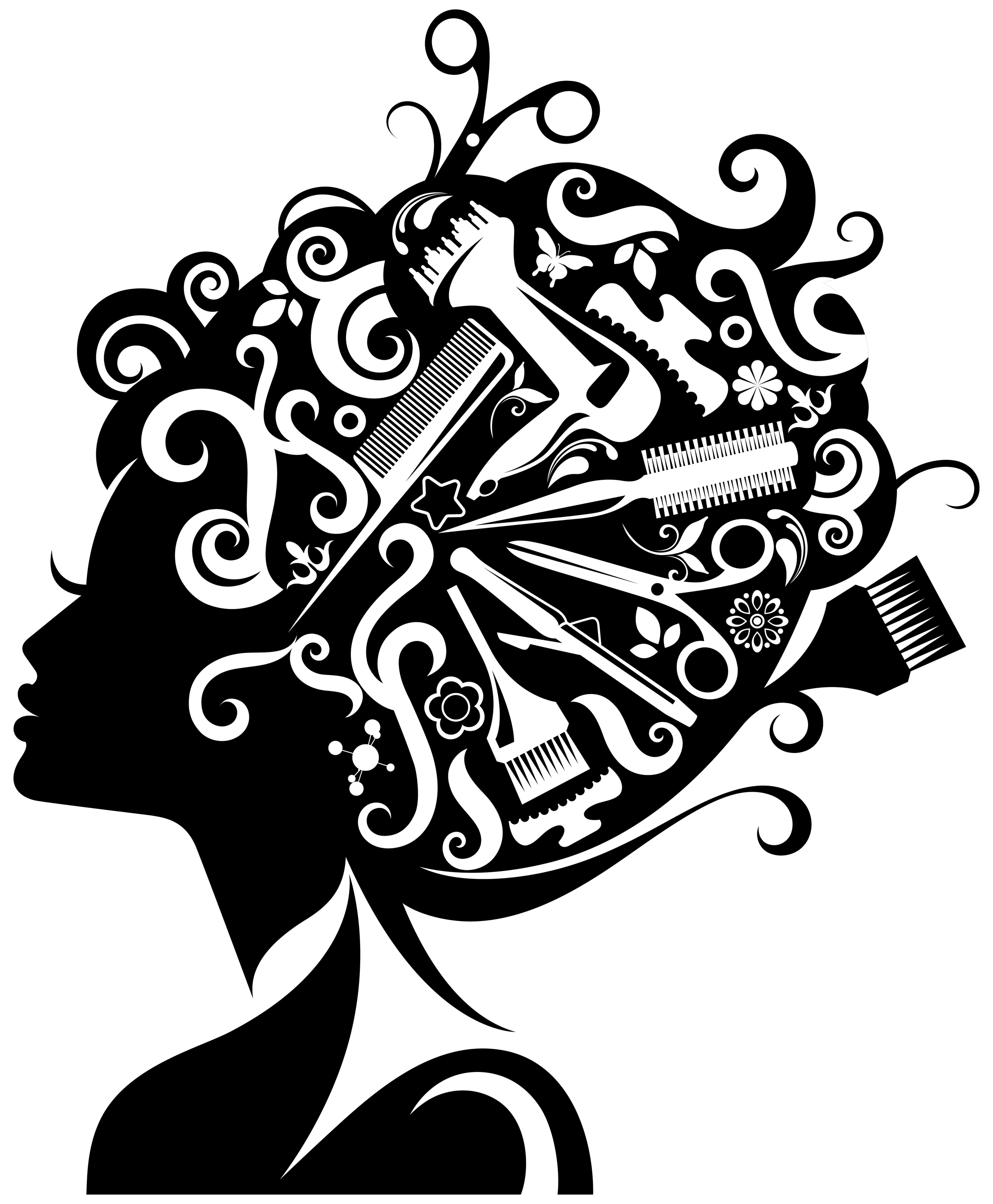 Cosmetology clipart.
