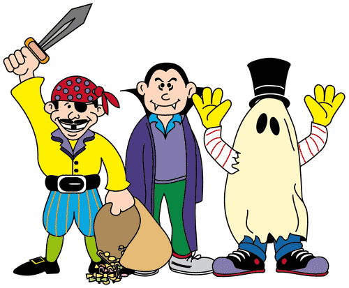 Costume clipart. Halloween