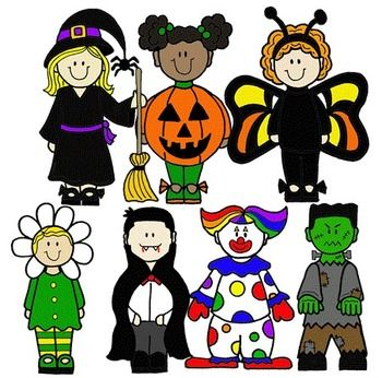 collection of kids. Costume clipart