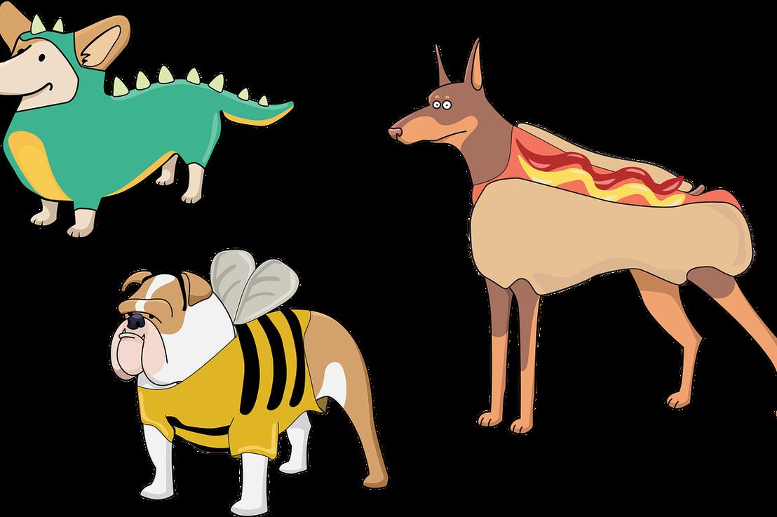 Funny dog halloween costumes. Costume clipart animal costume