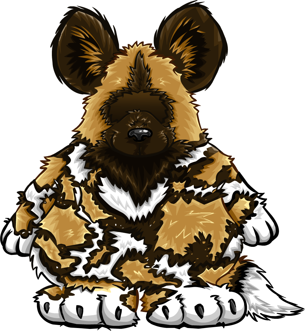 African painted dog club. Costume clipart animal costume