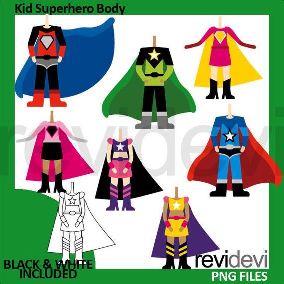 Kid superhero body boys. Costume clipart boy