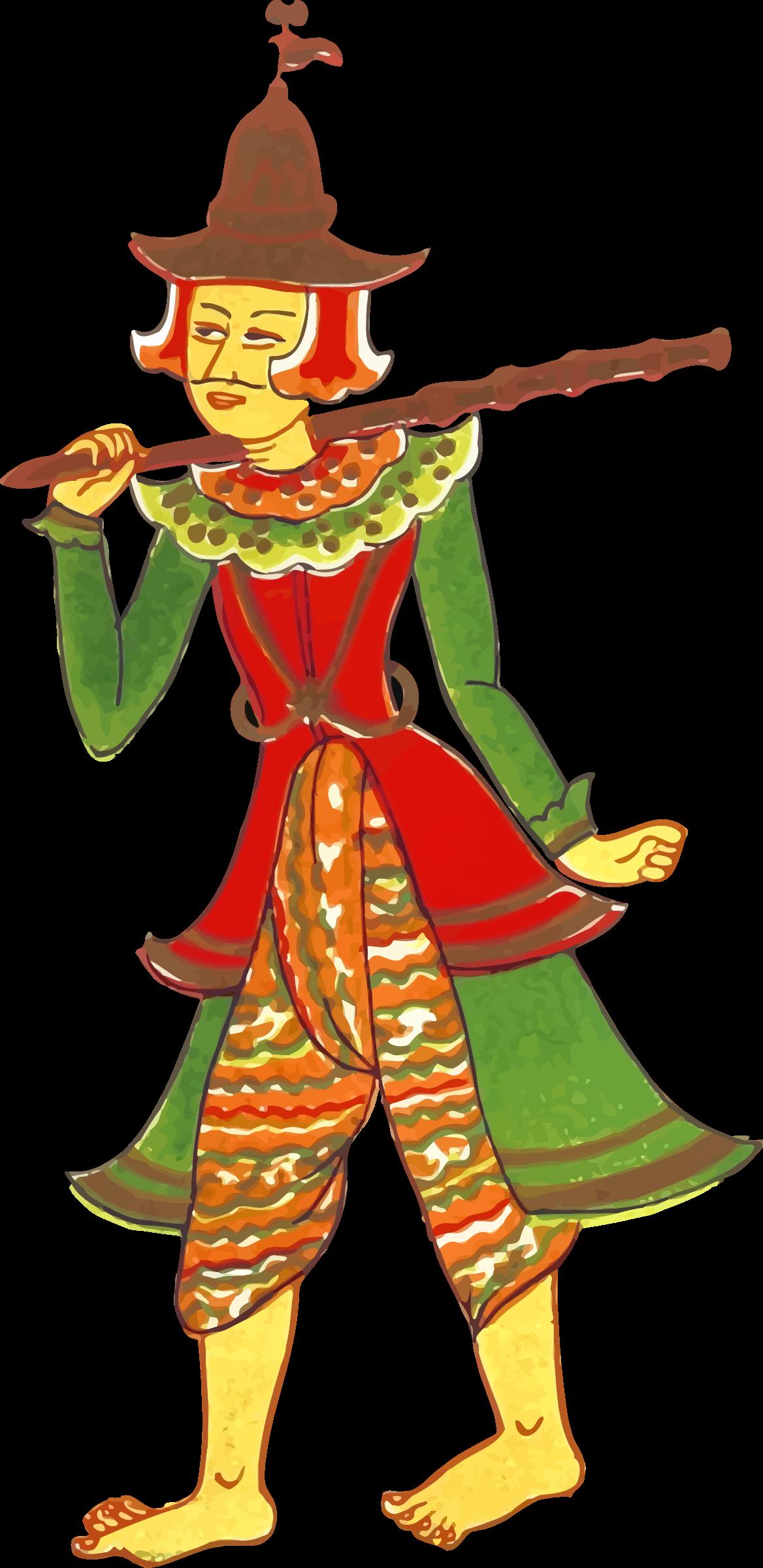 Costume clipart character. Vintage myanmar big image