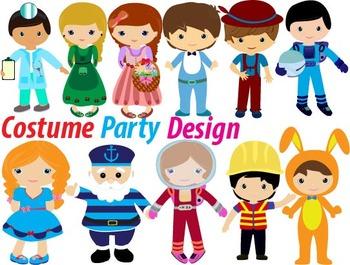 Party clip art birthday. Costume clipart children's