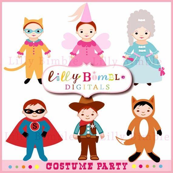 Costume clipart children's. Party clip art dress