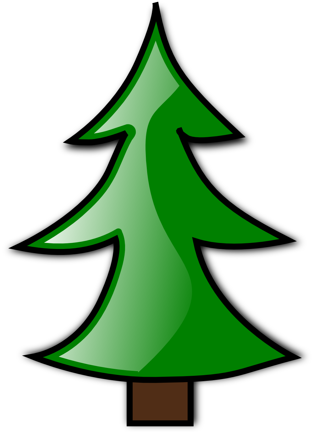 Costume clipart christmas tree. Undecorated clip art ideas