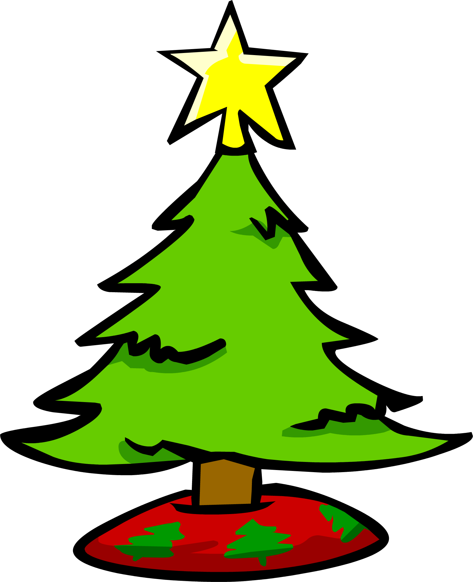 Costume clipart christmas tree. Small club penguin wiki