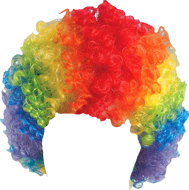 Costume clipart clown wig. Ftestickers wigs sticker by