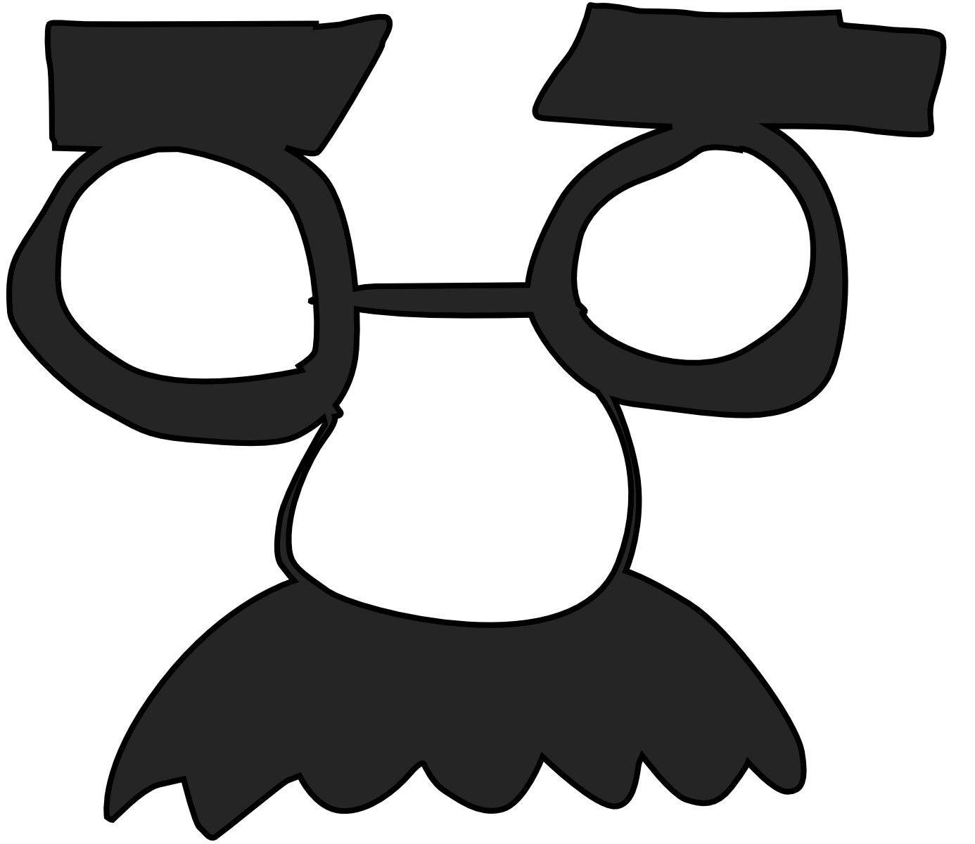 Ham clipart costume. Disguise clothing groucho glasses