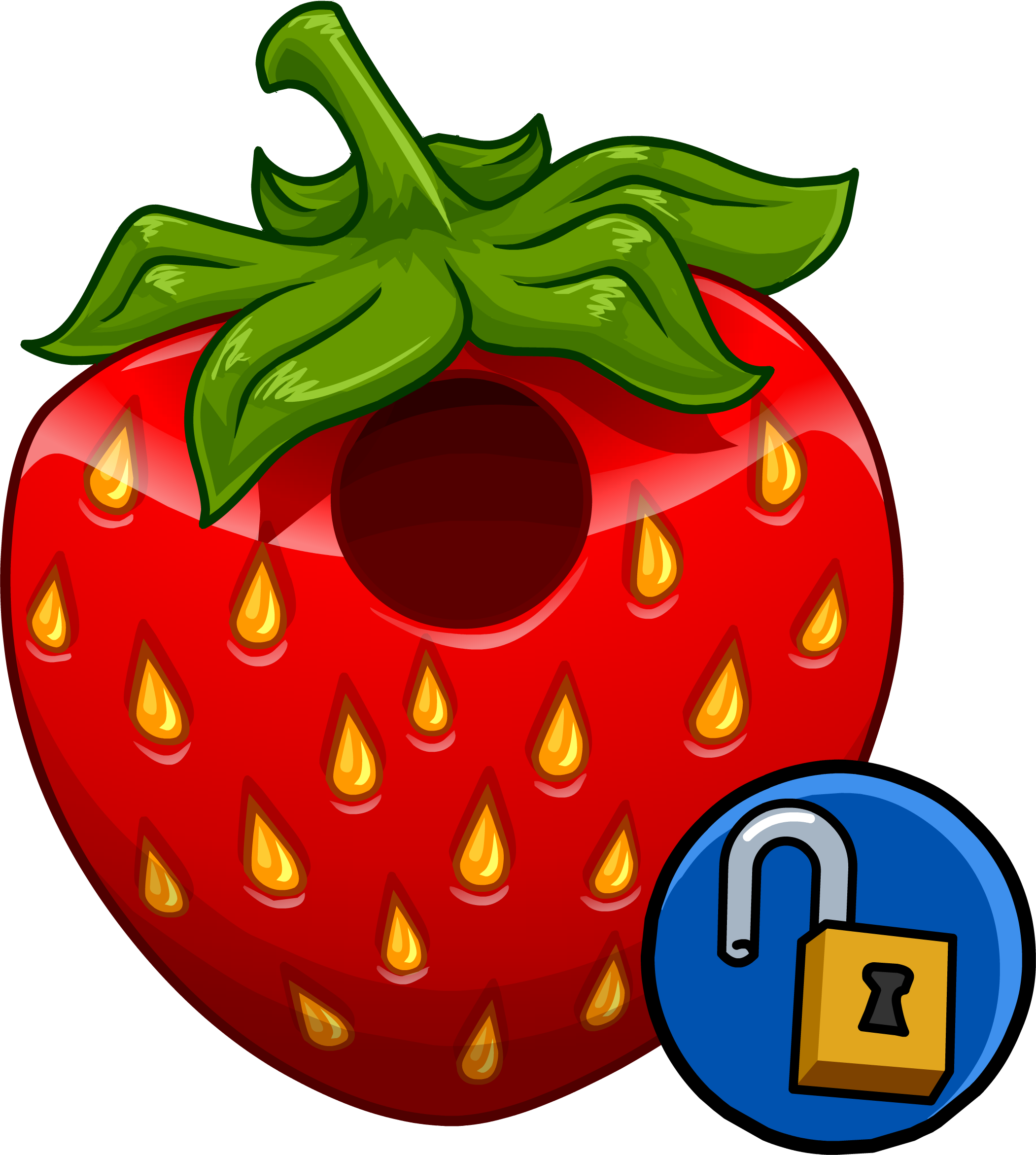 Strawberry costume club penguin. Wednesday clipart wacky outfit