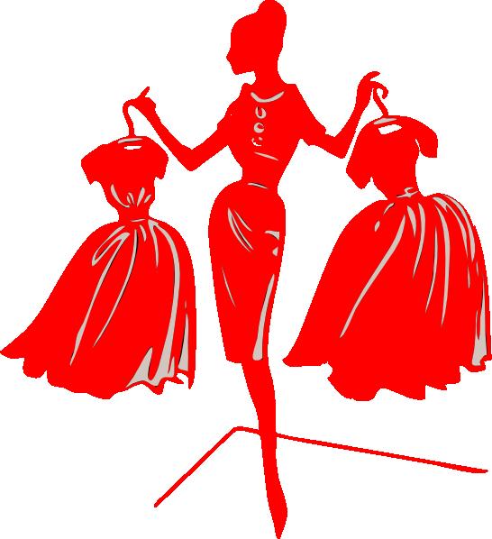 Red at clker com. Dress clipart clip art