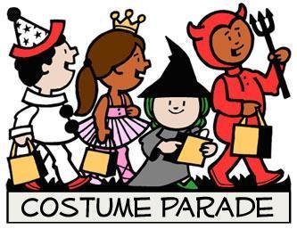 Glazier elementary school . Costume clipart costume parade