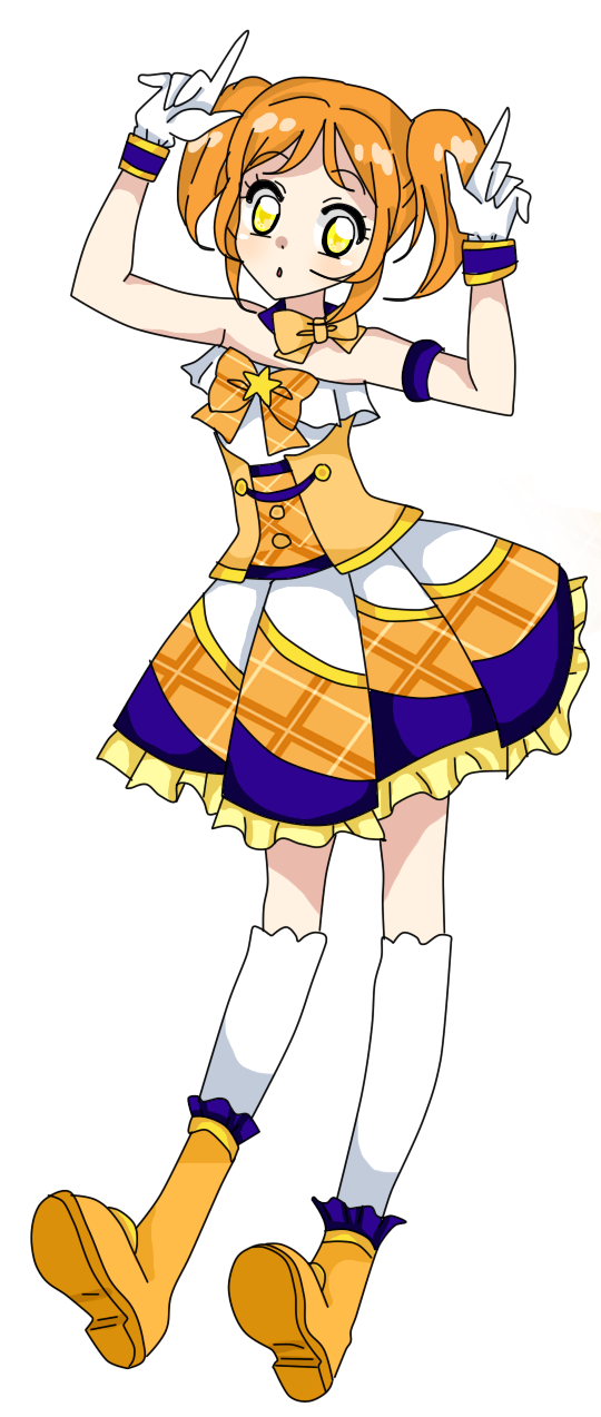 Aikatsu sunset coord by. Costume clipart costume parade