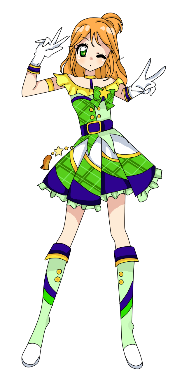 Costume clipart costume parade. Aikatsu leafy coord by