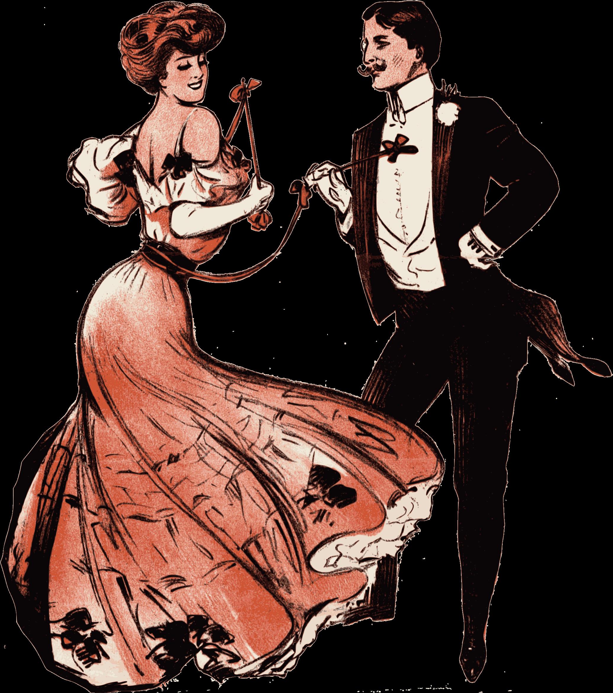 Fashion clipart family. Couple dances big image