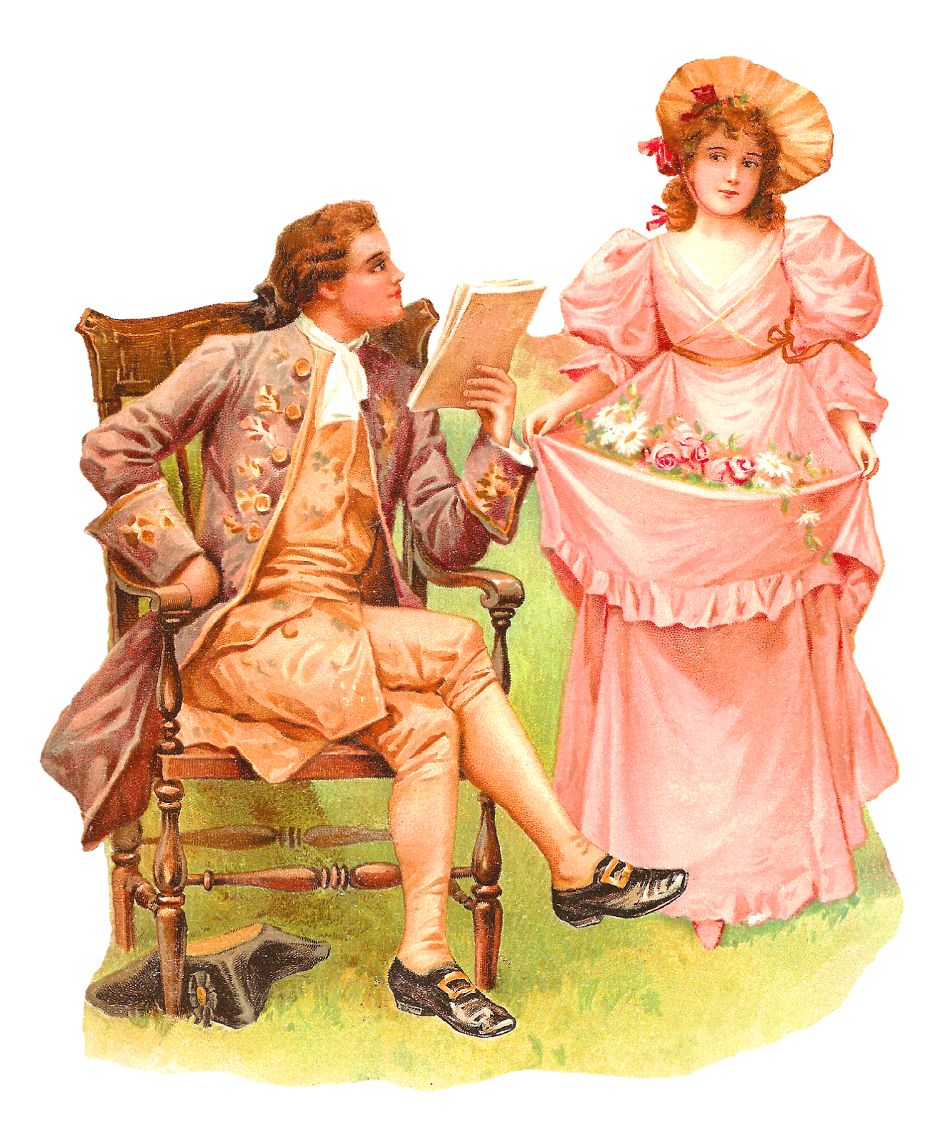 Antique images romantic colonial. Young clipart young gentleman