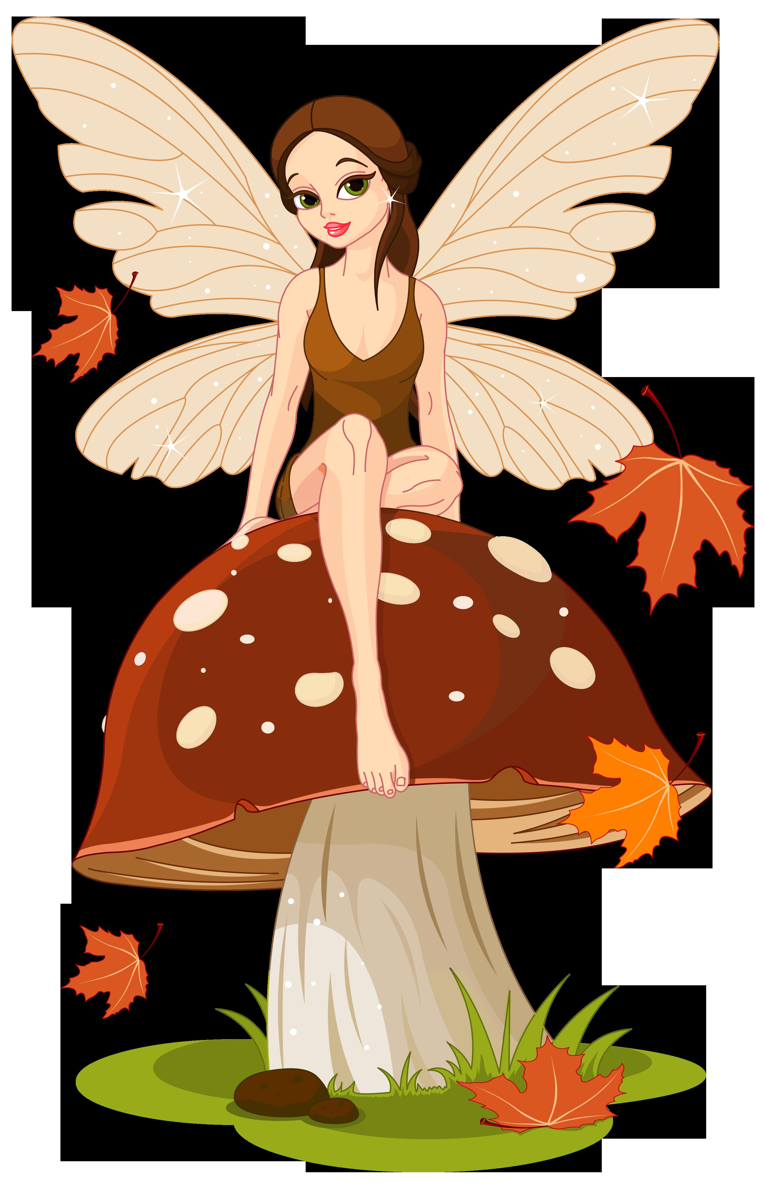 Autumn fairyand mushroom png. Mushrooms clipart mush