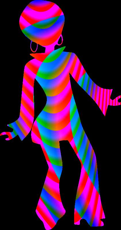 Colourful dancer medium image. Costume clipart disco