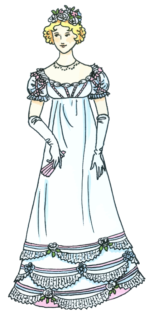 Costume clipart fancy dress. Onlinelabels clip art lady