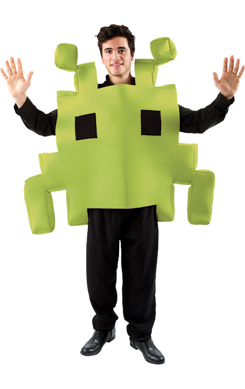 Adult green space arcade. Costume clipart fancy dress