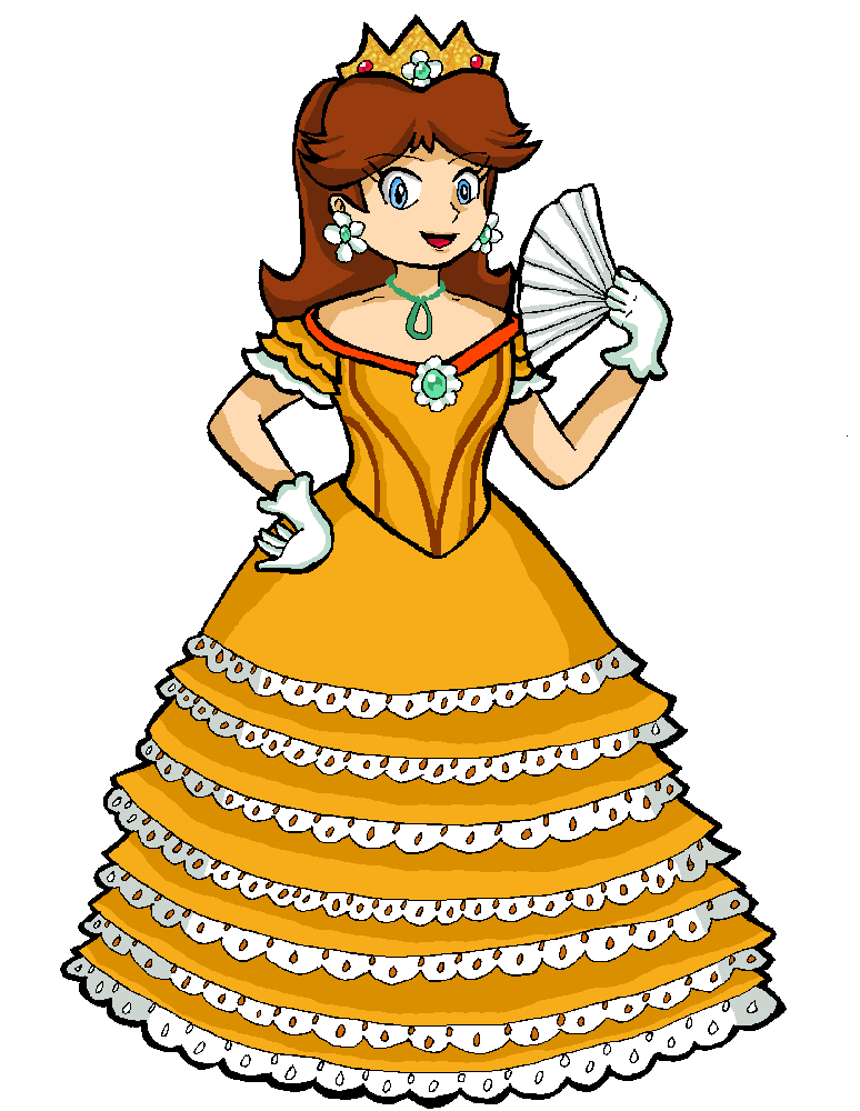 Costume clipart fancy dress. Princess daisy s by