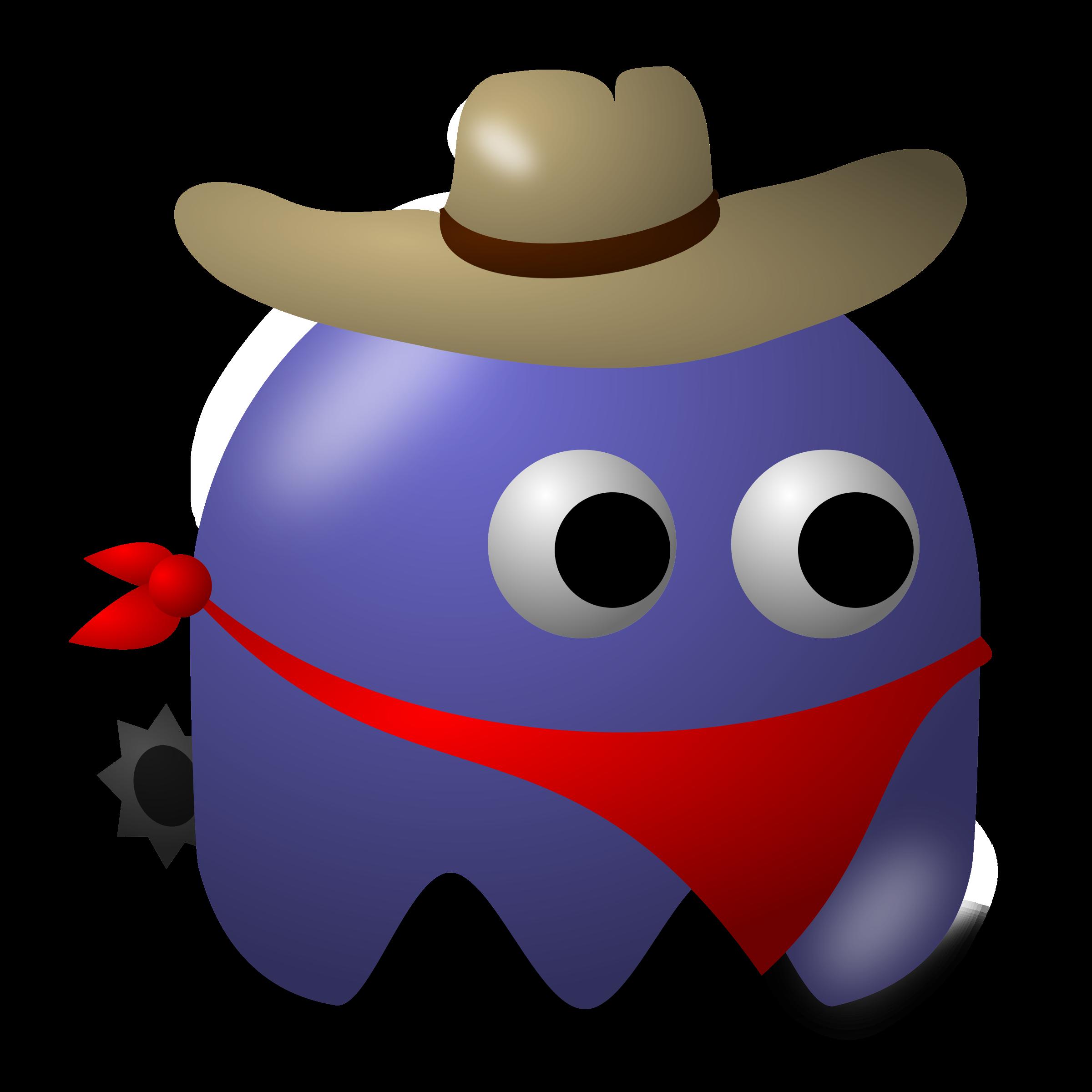 Baddie cowboy big image. Costume clipart game