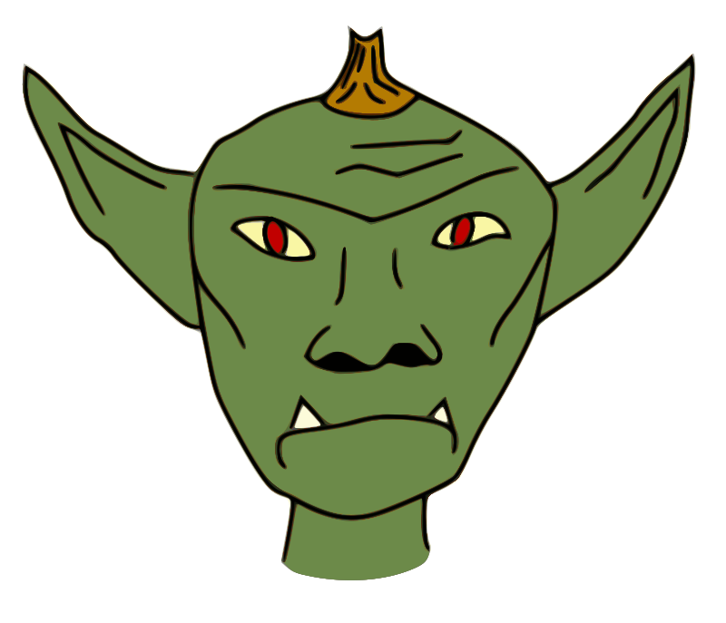 Free page of to. Zombie clipart goblin