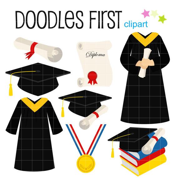 Digital clip art for. Graduation clipart poster