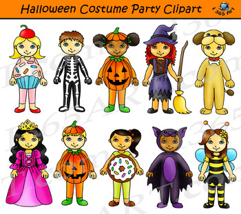 Costume clipart haloween. Halloween party kids
