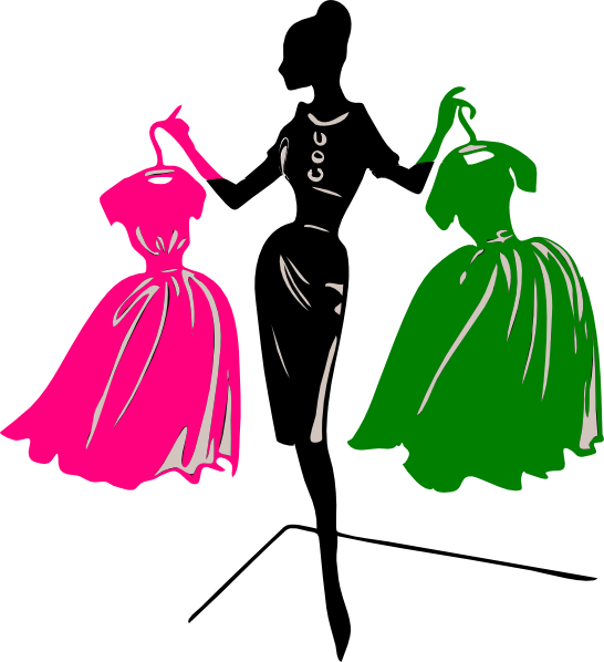 Costume clipart pink. And green silhouette clip