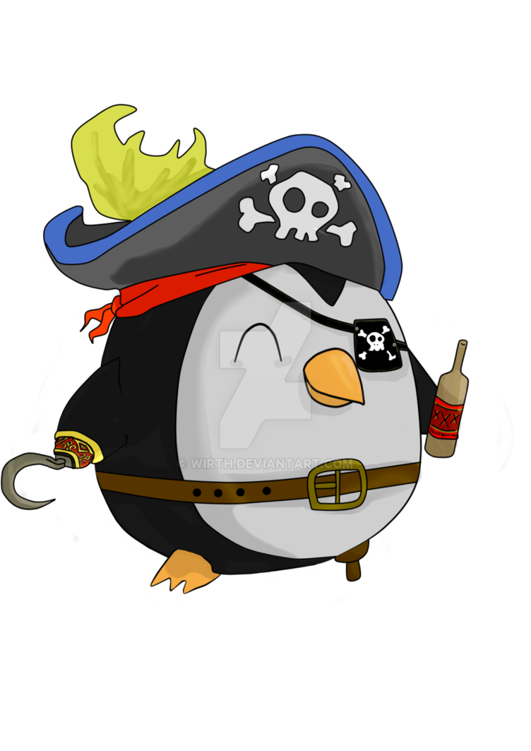 Kuikui the penguin by. Costume clipart pirate costume