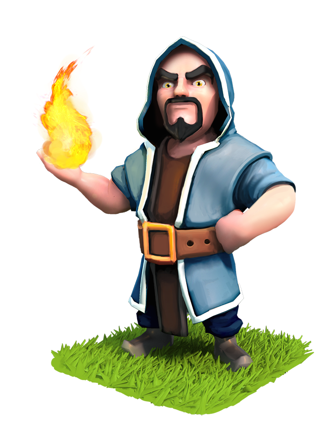 Minions clipart purim. Clash of clans wizard