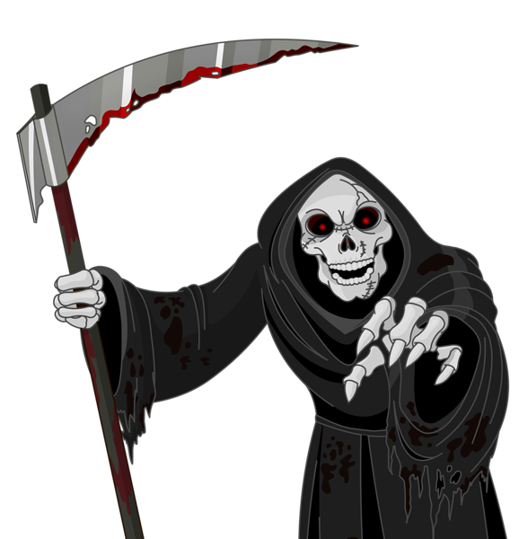 Words clipart death. Scary grim reaper png