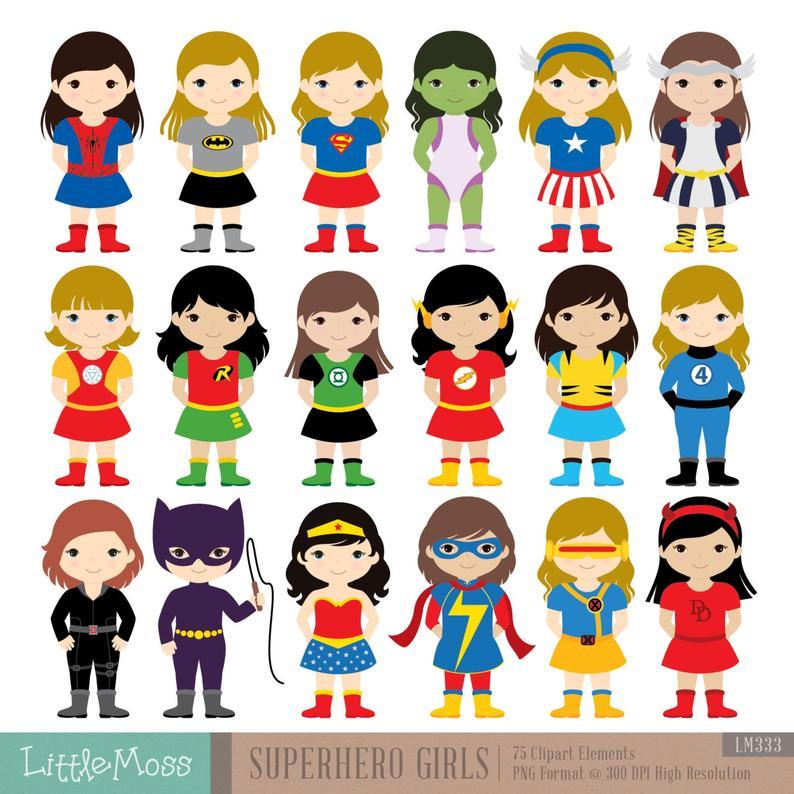 girls costumes superheroes. Costume clipart superhero costume