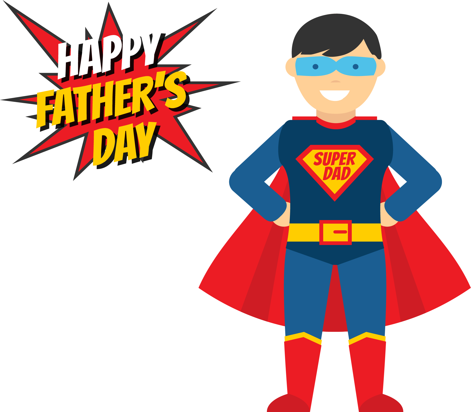 Fathers day illustration my. Costume clipart superhero dad
