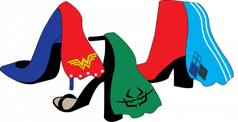 Female superheroes and villains. Costume clipart superhero outfit