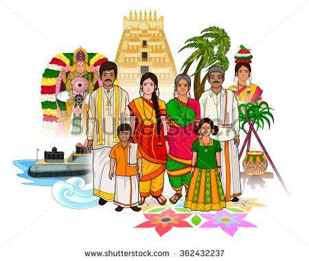 Vector design of tamil. Festival clipart cultural event