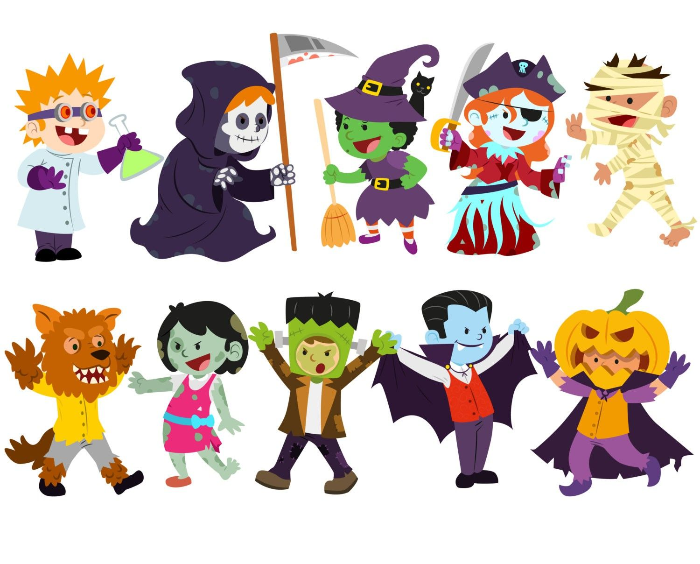 october clip art | October Trick or Treaters Clip Art Image - the word  October in orange ... | Halloween subway art, October halloween, Halloween  clipart