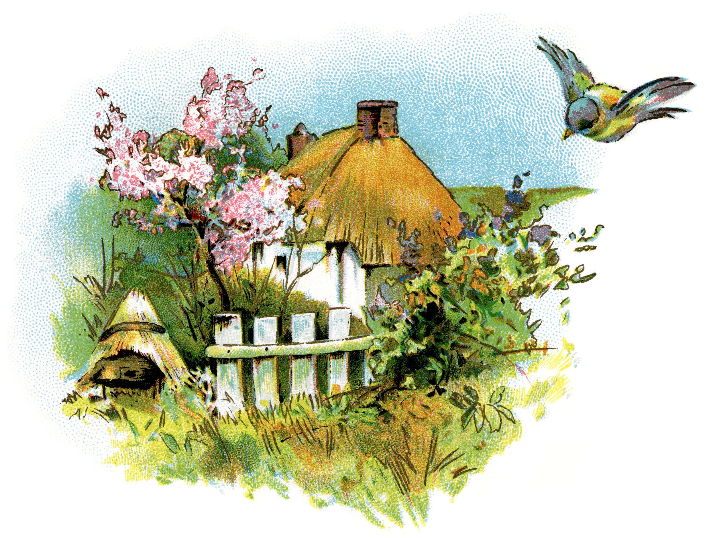 Cottage clipart. Small country clip art