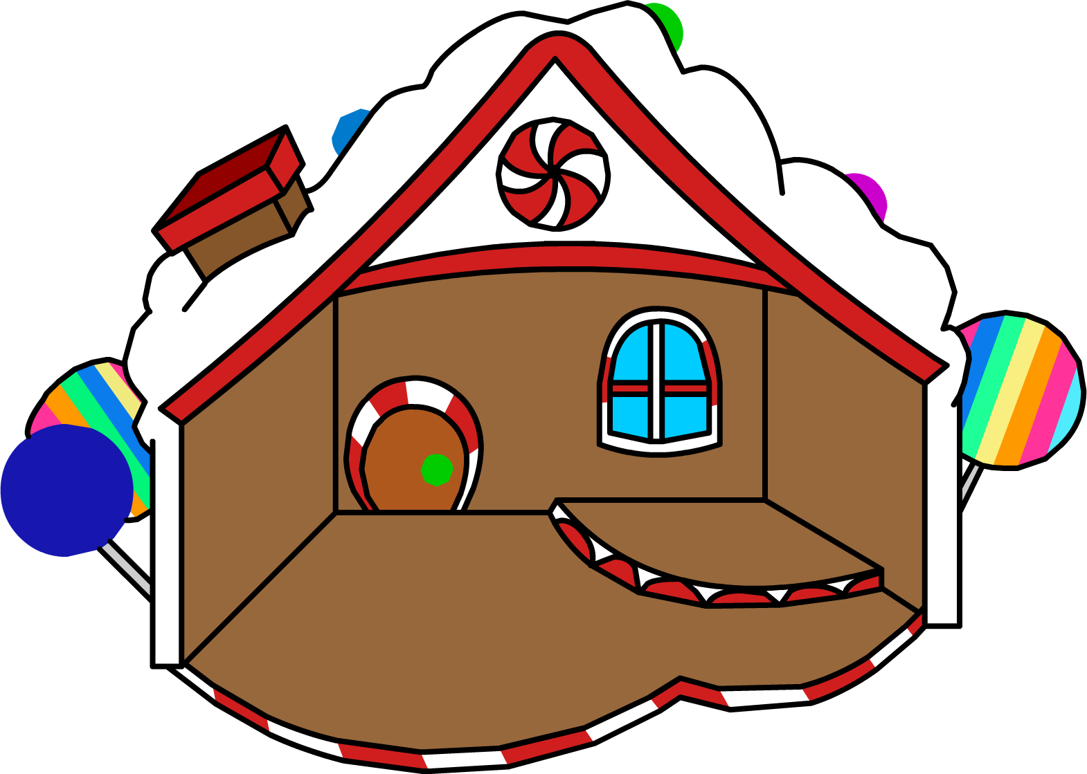 Gingerbread clipart treat. House club penguin wiki