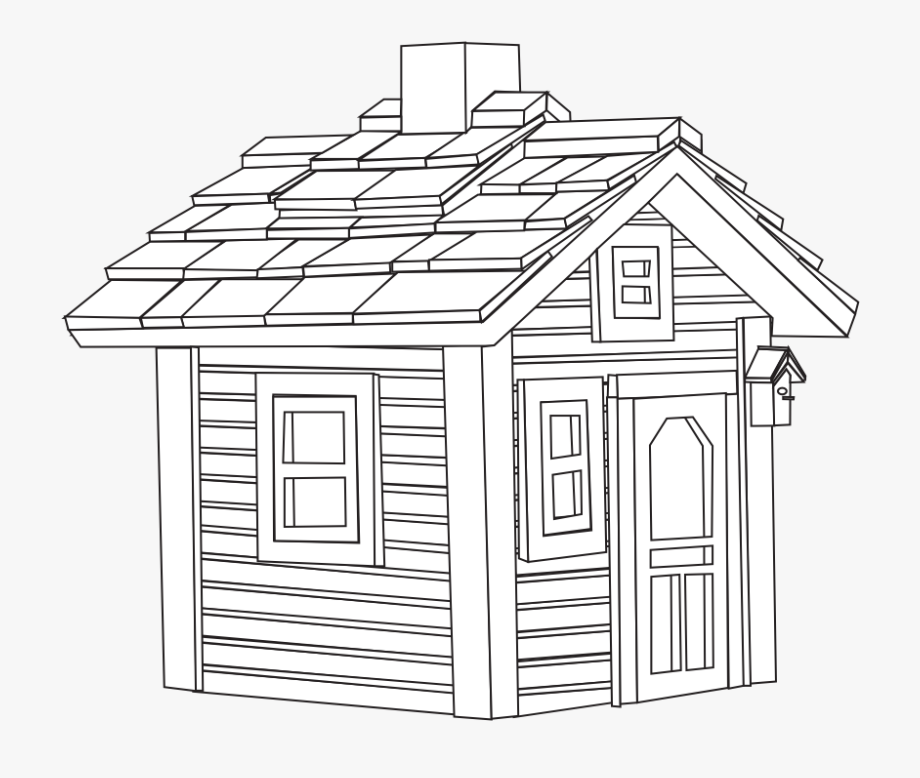 Cottage clipart black and white. Little house clipartist