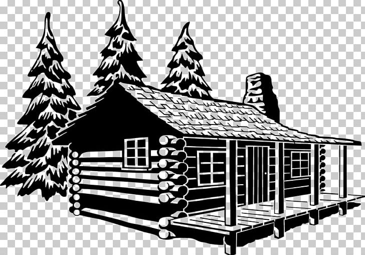 Cottage clipart black and white. Log cabin png angle
